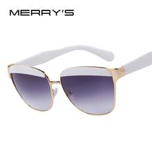 MERRY'S Brand Designer Eyebrows Frame Gradient Women Sunglasses Classic Butterfly Women Sunglasses UV400(China (Mainland))