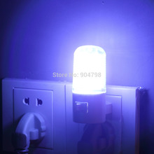 2 pcs 6 LED Wall Mounting Bedroom Night Lamp Light Plug Lighting AC 3W Worldwide FreeShipping