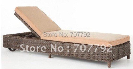 2016 Hot sale SG-12003C Elegant black rattan deck chair furniture(China (Mainland))