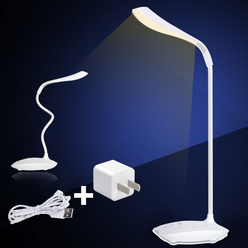 16 LED Bulbs Table USB Desk Lamp Led Night Light Luminary Abajour Battery Table Lamps Have White And Yellow Light Touch Switch(China (Mainland))