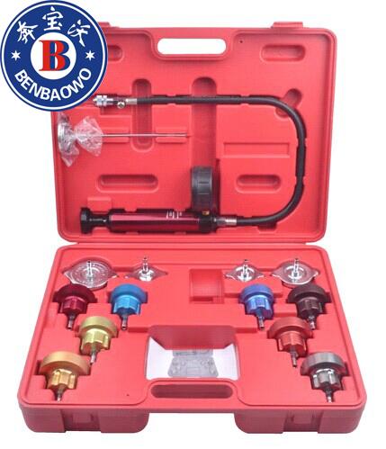 14pc Radiator Pump Pressure Leak Tester Water Tank Detector Kit Aluminum Adapter(China (Mainland))