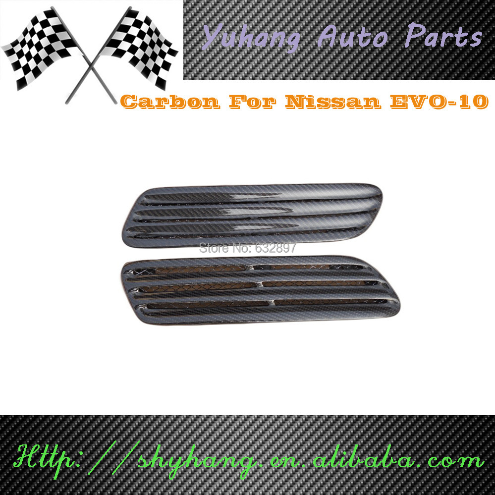 2008-2010 Mitsubishi Lancer Evolution EVO 10 X OEM Style Carbon Fiber Hood Vents(China (Mainland))