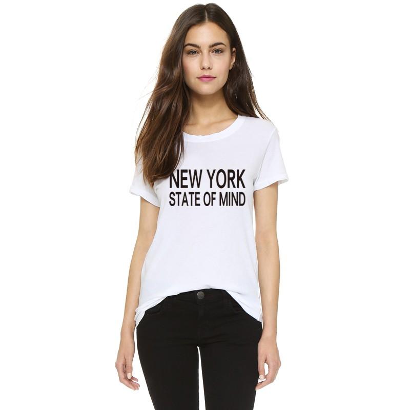 2016 H650 Summer Style Casual Women T shirts NEW YORK STATE OF MIND Printed Harajuku White T-shirt Plus Size Tees  HTB1fJQyKXXXXXXvXVXXq6xXFXXX4