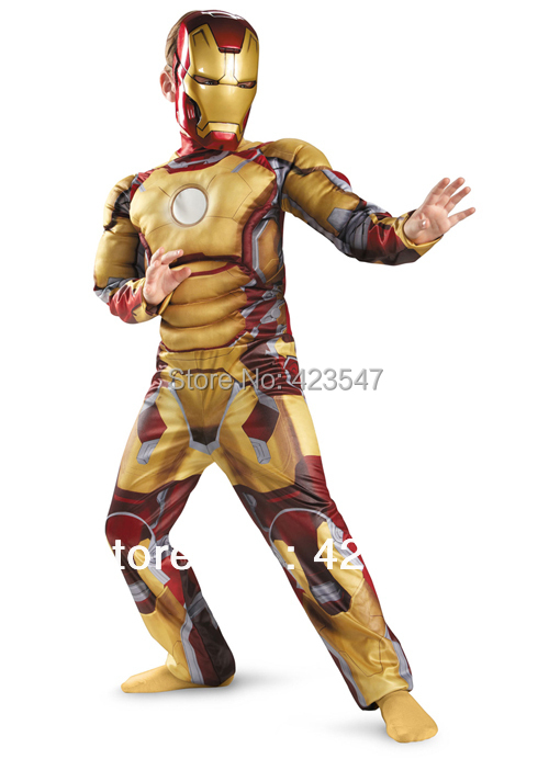 Muscle Children Clothes Iron Man Iron Man costume (muscle models) new Iron Man 4-12 yearsОдежда и ак�е��уары<br><br><br>Aliexpress