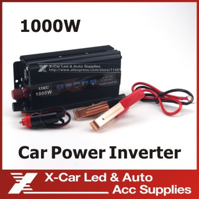 12V to 220V Auto Car Modified Sine Wave Power 1000W Inverter Converter Charger USB Car Cigarette Lighter for Notebook Adapter(China (Mainland))