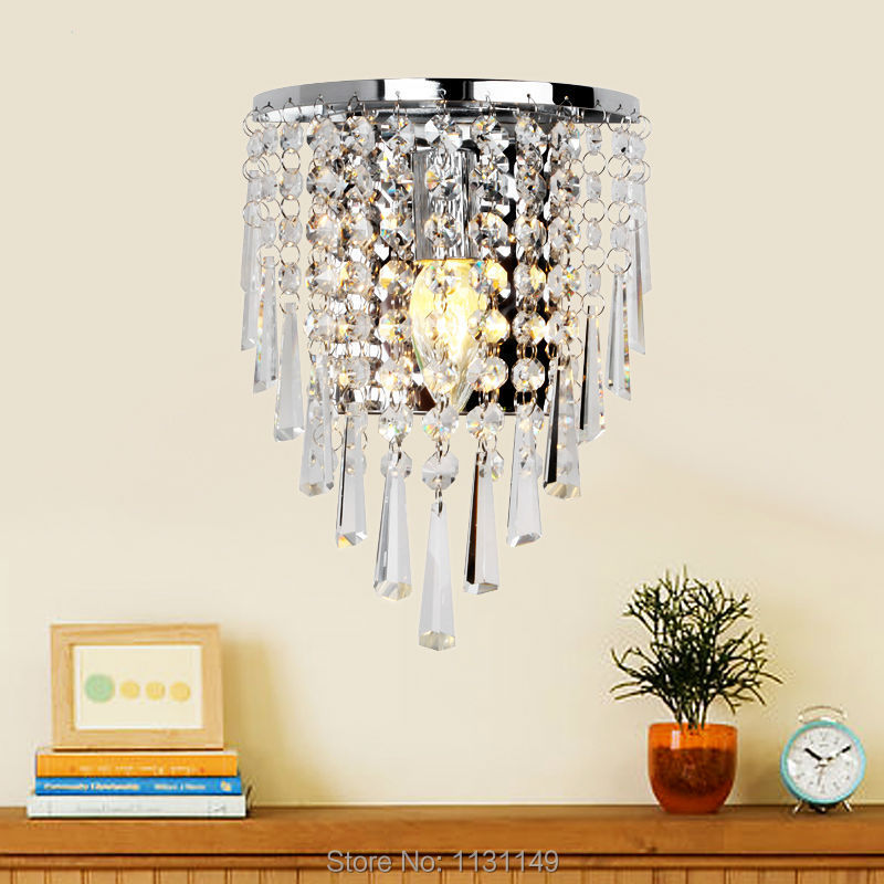 Crystal Wall Sconces Bathroom : 10w bedroom restroom livingroom led crystal wall lamp light fixtures bathroom light lamps home ...