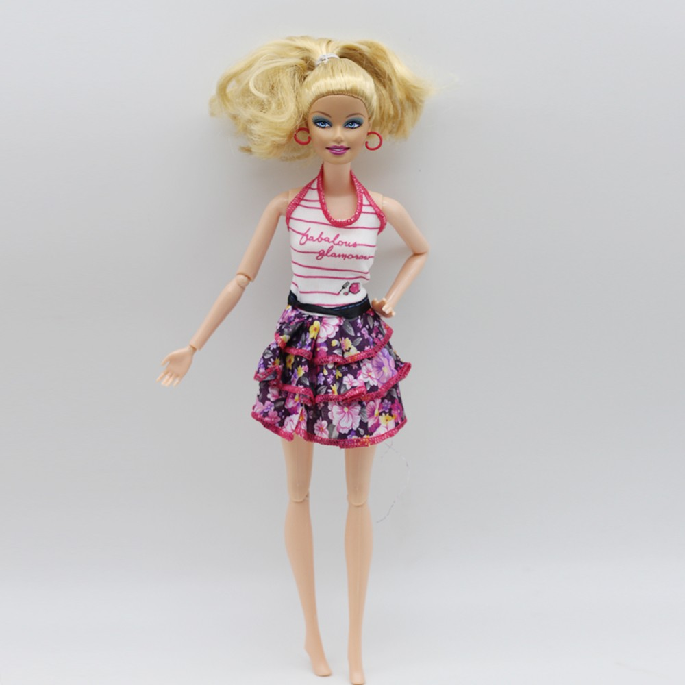 1 Items mini skirt trend outfit Garments for barbie doll gown