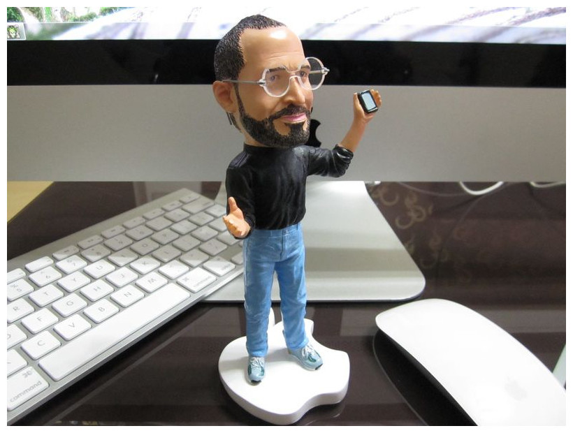 Wholesale Popular Q version Steve jobs sculpture Dolls Furnishing articles souvenirs for Super fan Free shipping(China (Mainland))