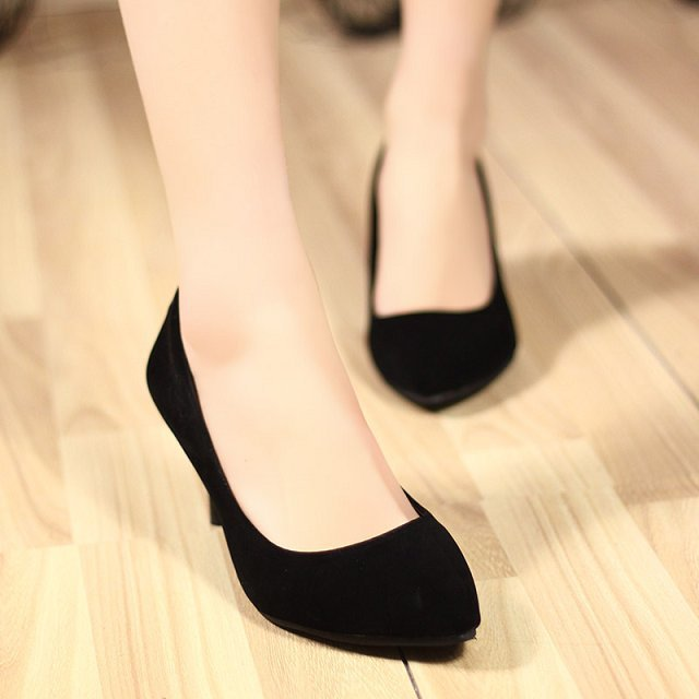 Sapatos Femininos 2014 Summer Women Flock Shoes 7cm Thin High Heels Pointed Sexy Women Pumps OL Shoes For Women #023