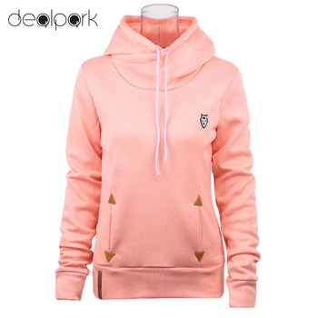 2016 Fashion Women Hoodie Sweatshirts Self-tie Pockets Pullover Hooded Loose Tops