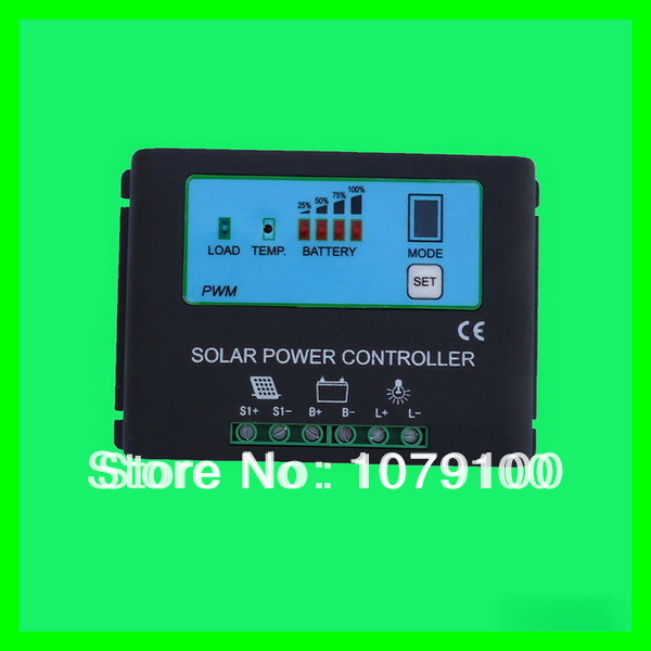 CE&RoHS Certificate New Style Metal Housing Power Display 20A solar charge controller 48v(China (Mainland))