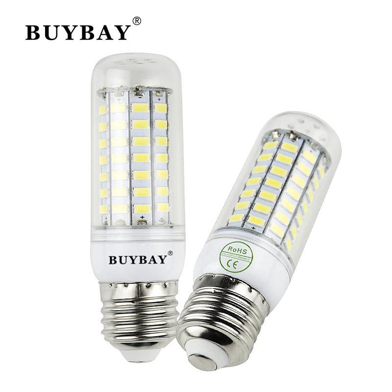 New Bombillas Led E14 E27 80led 5730SMD Smart IC LED Corn Bulb Lamp AC 110/220V Lampada Led Spot Light White Warm White(China (Mainland))