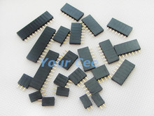 1001*10p 12p 20p 2p 3p 4p 5p 6p 7p 8p Series Single Row Pin Female Header Socket 2.54mm Pitch kit - Your Cee store