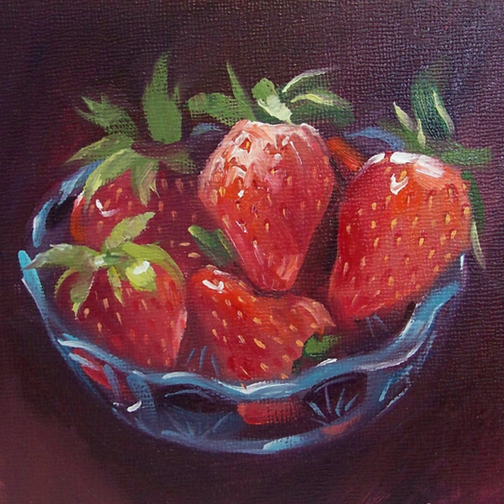 Wanddecoratie Canvas Keuken : Oil Painting Fruit Basket