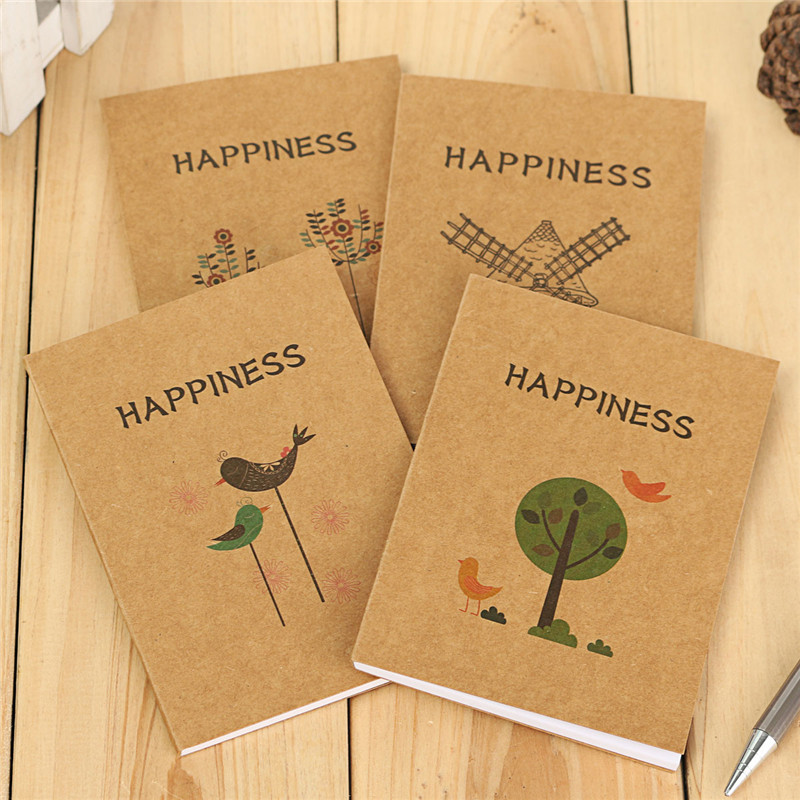 Small Blank Notebook Retro Cute Draw Hand Painted Graffiti Sketchbook Journal Memo Painting Planner Stationery Kid Gifts(China (Mainland))