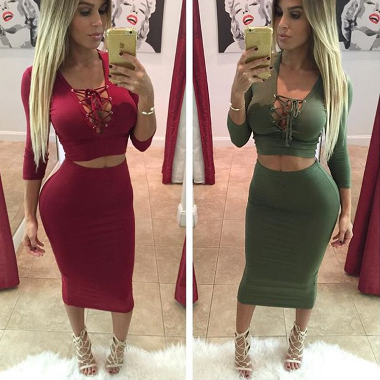 aliexpresscom buy crop top pencil skirt set women high