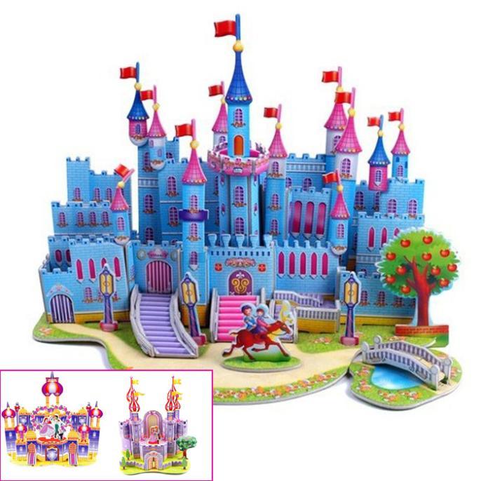 T0394 3D Jigsaw Puzzles Castle/Princess Room DIY Building Paper Model Kids Creative gift Children Educational Toys hot sale<br><br>Aliexpress