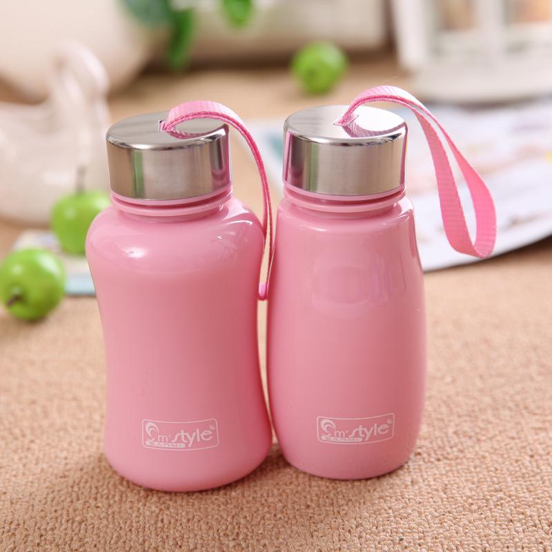 Creative Mini my portable space Plastic infuser water bottles sport drinking water bottle gourde en plastique cute travel mugs(China (Mainland))