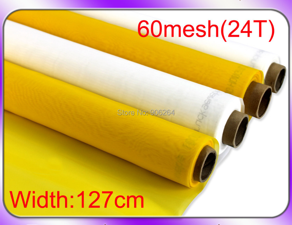3 yards 100% Polyester Silk Screen Printing Mesh 127cm Width 60 Mesh(24T)(China (Mainland))