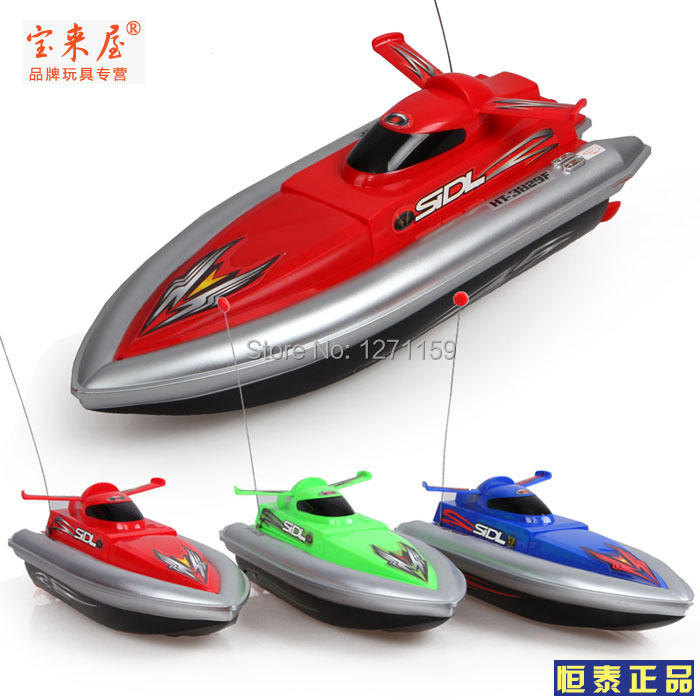 Ultralarge hengtai child electric toy ship remote control boat speedboat model toy Long life 30cm A great ship(China (Mainland))