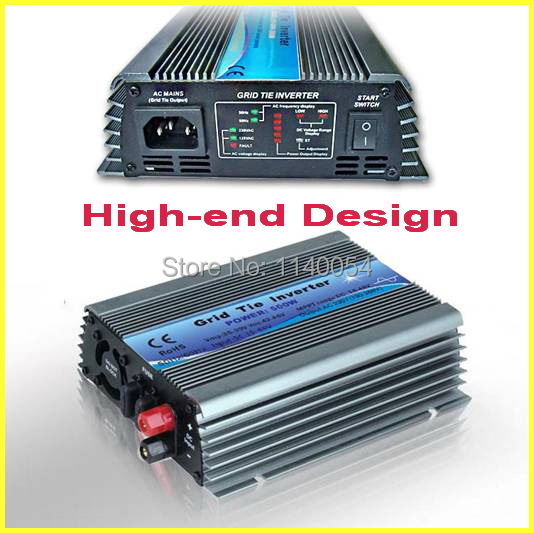 500W Grid Tie Inverter for 30V 60Cells and 36V 72Cells Solar Panel, MPPT function, Pure Sine wave Micro On Grid Tie Inverter(China (Mainland))