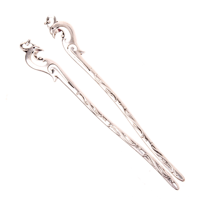 Very classical 15pcs/lot antique silver Bookmark Phoenix patterns plated Fashion Vintage Bookmark 200215(China (Mainland))