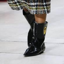 Prova Perfetto yılan derisi deri yarım çizmeler kadınlar için yağmur çizmeleri pist kısa çizmeler kadın sivri burun düz topuk Botas Mujer(China)