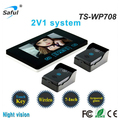 wireless unlock hands free call talk 7 LCD Monitor wireless video intercom system doorphone with 2