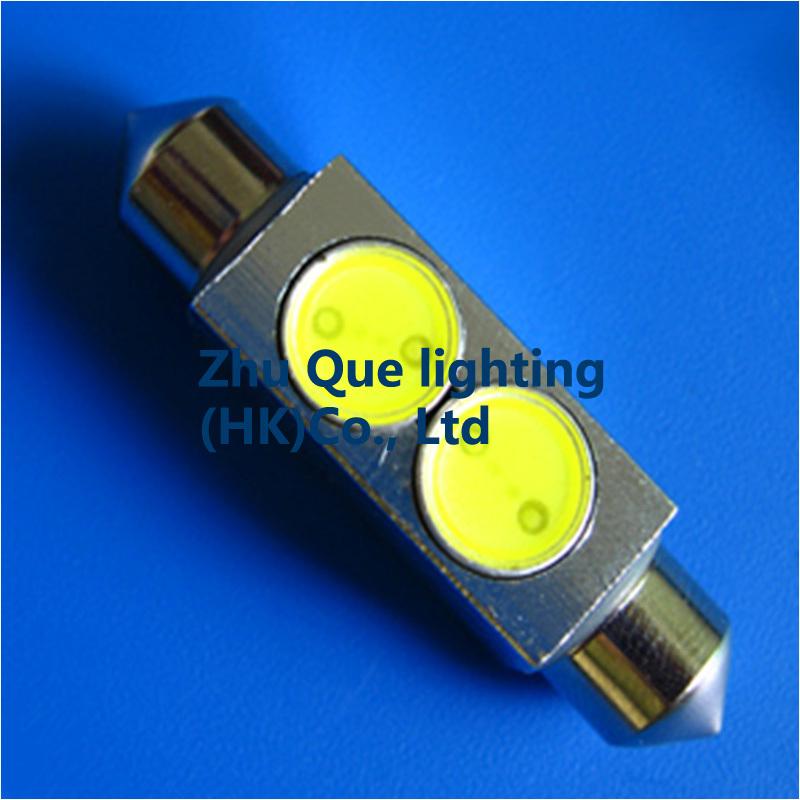 Auto LED light 1000pcsX High Power -Festoon-2LED-36MM Dome Light Auto Over Head Glove Box Reading Lamps NEW100%& Free shipping(China (Mainland))