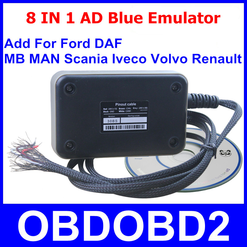 Professional 8In1 AD Blue Emulator Latest Version V3.0 ADblue For Heavy Duty Truck Add New Truck Model For Ford Free Shipping<br><br>Aliexpress