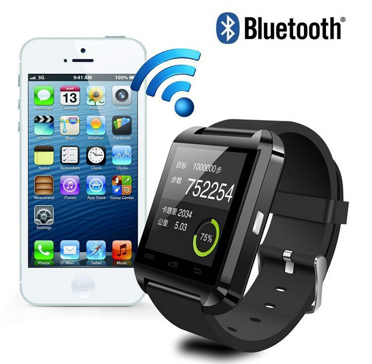 2015 Smart Bluetooth Watch MTK WristWatch Watches U8 U iPhone 4/4S/5/5S Samsung S4/Note 2/3 Android Pho