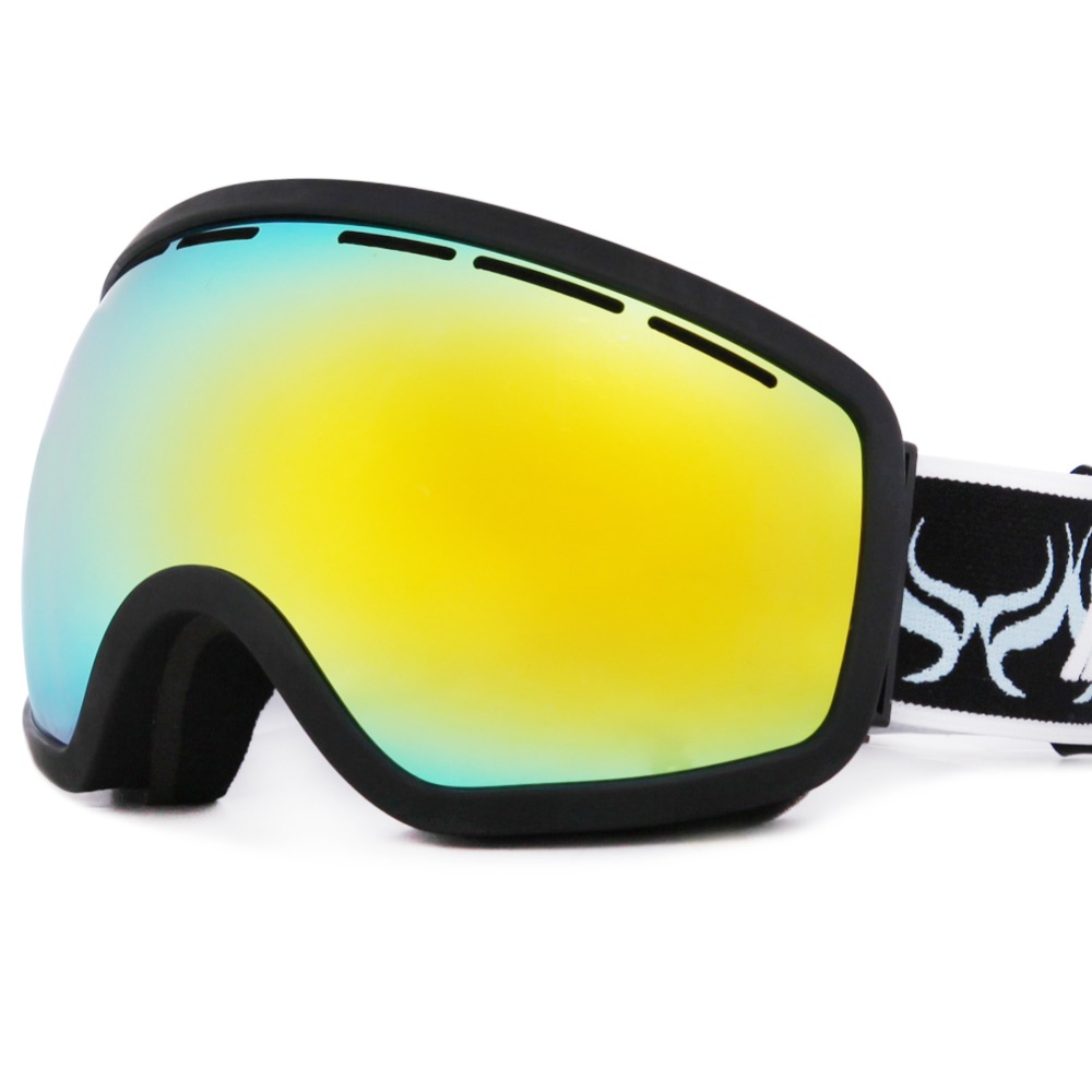 Double lens with anti-fog, large spherical ski goggle ski glasses snow goggle(China (Mainland))