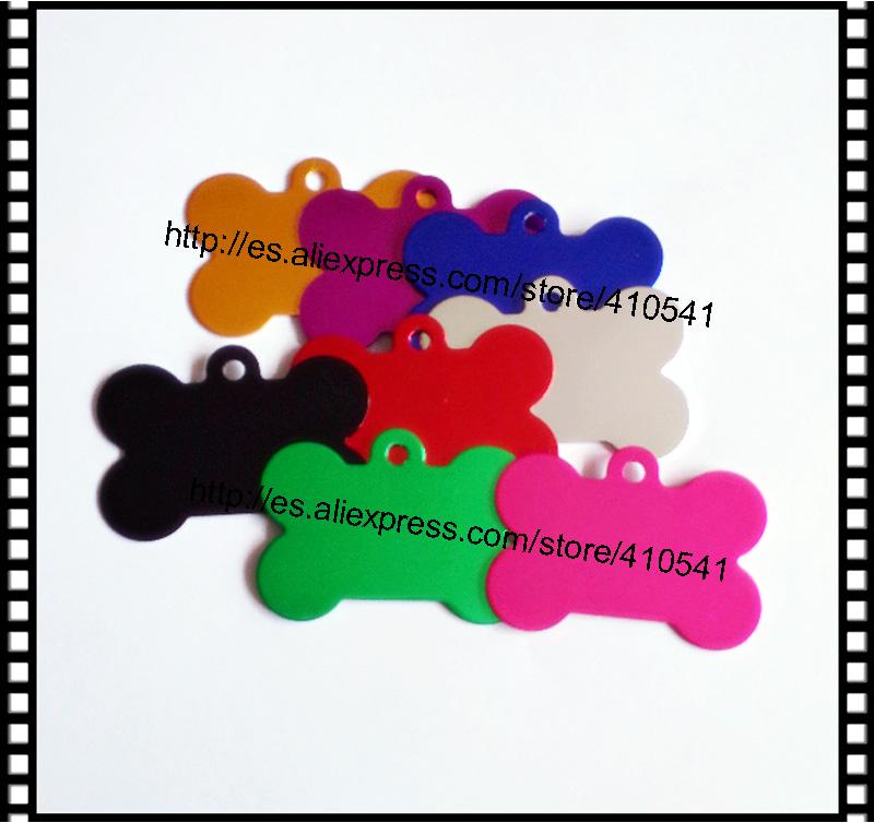New Sale Free Shipping Aluminium Alloy Pet Tags Mix Colors Dog Cat tags 50Pcs/ Lot Dog Bone shape Pet ID Tags Dog Name tags(China (Mainland))