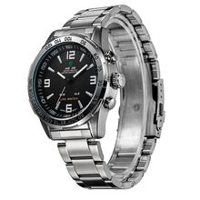 Weide WH1009 hombre de lujo Herramientas Shark Zone Dual Time reloj iluminado analógico Digital LED Display de cuarzo deporte militar