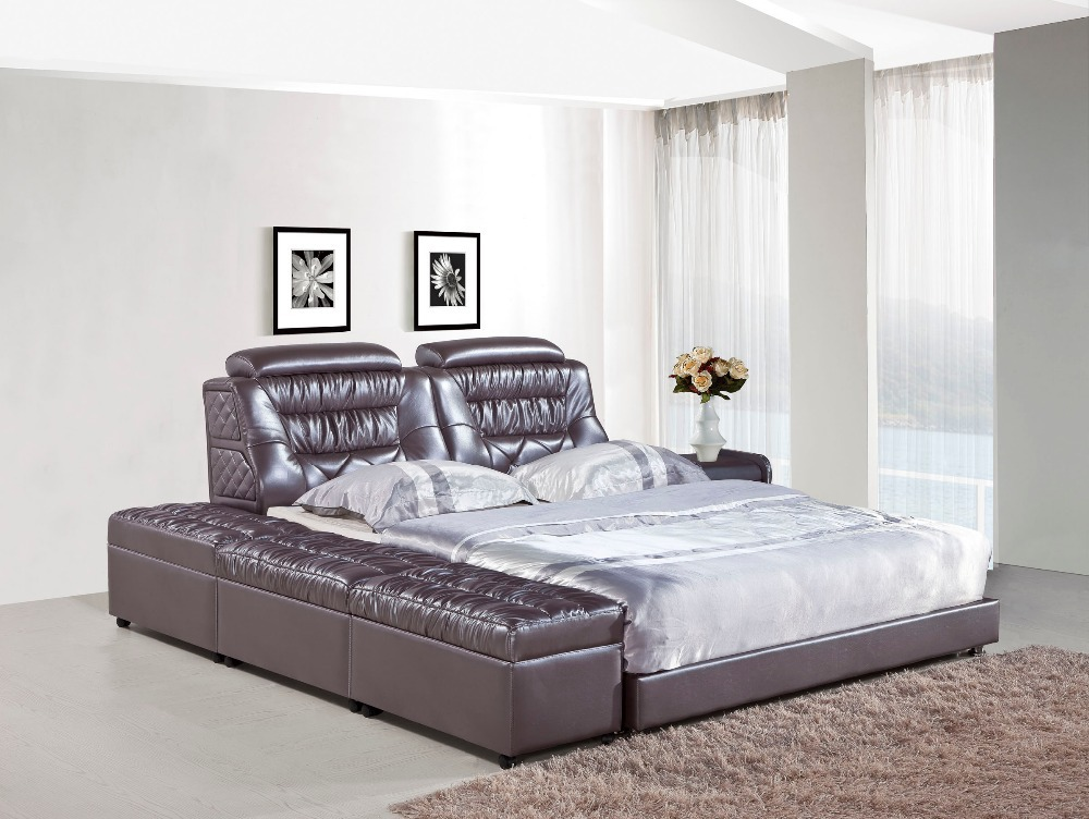 bedroom furniture modern leather bed h821 in beds from