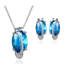 2015 Unique Design Necklace Set Extravagant Party Jewlery Set For Lady Fashion Big Crystal Jewelry set Necklace Earring (China (Mainland))