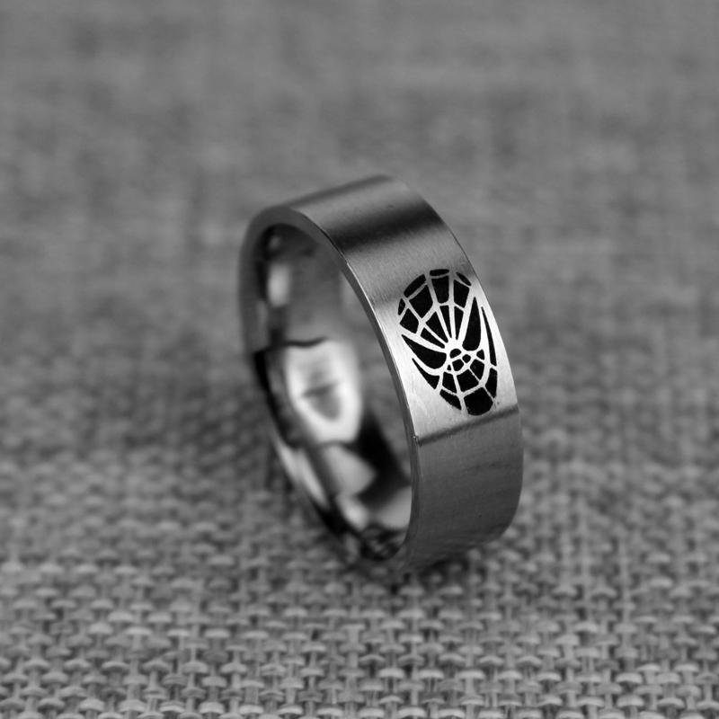 DC Comics Superhero Spiderman Ring Stainless Steel Movie Jewelry For Men Women Best Gift(China (Mainland))