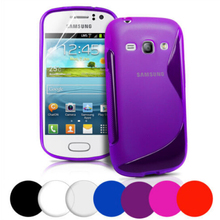 New Soft Silicone TPU Gel S line Skin Back Cover Case For Samsung Galaxy Fame S6810 S6812 Case