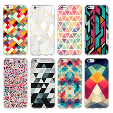 For Apple iPhone 6 Case Fashionable Geometric Graphic Pattern Mobile Cover for iPhone 6s plus Case Phone 5 5S SE Coque Funda
