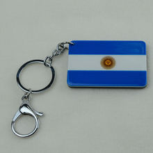 Argentina National Flag Key Chains Jewelry fashion Argentinean Keychain Map Acrylic,Wholesale Promotional gifts Jewellry(China (Mainland))