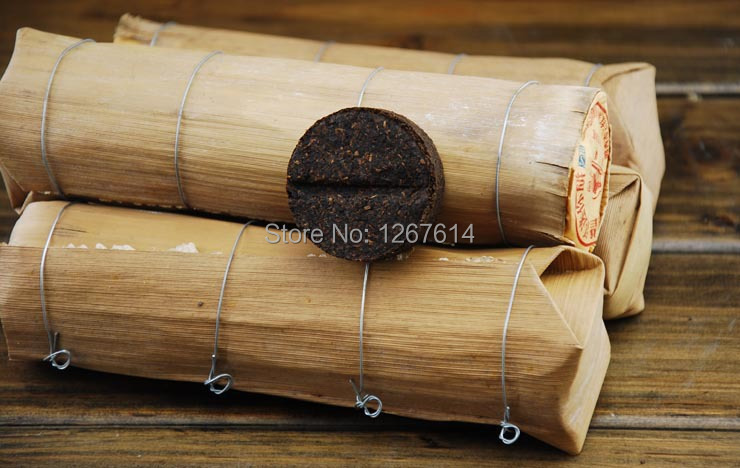 10 year old Mini Puer Puerh Cake in Bamboo Shoot Shell Chinese Ripe Pu er Tea Drinkable Antique worth Collecting Free Shipping<br><br>Aliexpress