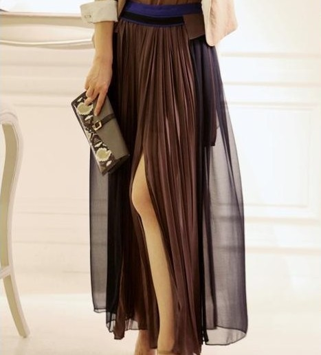 2013 spring fashion chiffon bust skirt full dress big skirt placketing full dress yarn skirt