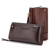 Dollar Price New Carteras Men's Standard Wallet Clutch Genuine Leather Wallet Male Handy Bags Purse Men Monederos Wallets(China (Mainland))