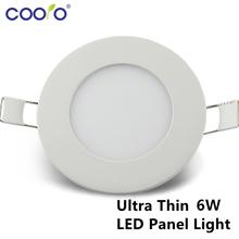 AC110/220V LED Panel Light 6W LED ceiling Light Round Ultra thin LED downlight(China (Mainland))
