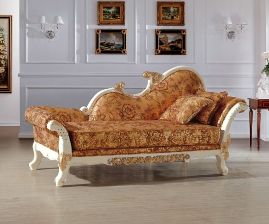 beautiful luxury italian royal style chaise/ lounge chair/recliner sofa chair living room and bedroom funiture made in china(China (Mainland))