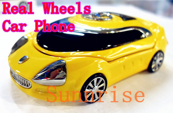Real Wheels! Luxury Car Phone A8 S8 with Logo Dual Sim Best Gift for Kids Unlocked Children Phone Russian Keyboard