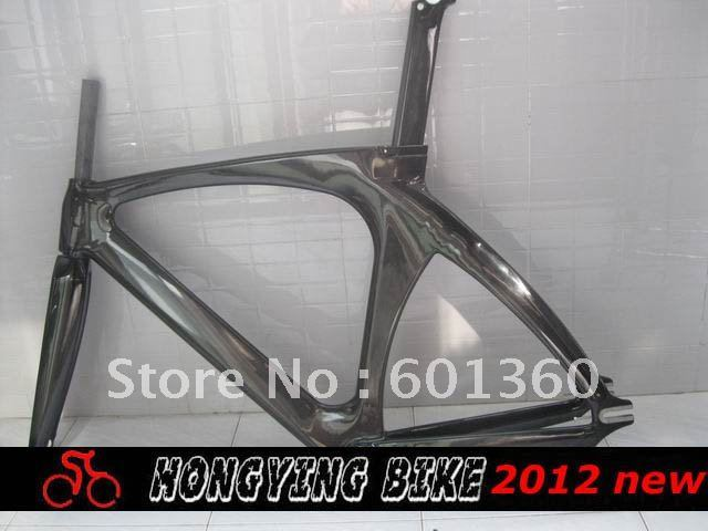 2012 53.5cm size available,carbon fixed gear bicycle frame with fork and seatpost 700c