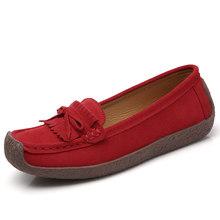 Vrouwen Suède Loafers Vrouwen \ x27s Slip \ x2don Schoenen Hoge Kwaliteit Comfortabele Schoenen Vrouw Flats Sneakers Vrouw Schoenen vrouw(China)