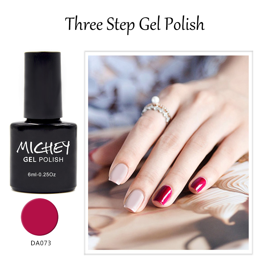 Perfect Quality Excellent MICHEY Gel Polish Rose Red Color Nail Polish Bling Gel Varnish Esmalte Para Unhas Free Shipping(51~74)