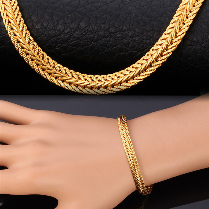 links cuban jewelry bracelet hip plaqu gold mailles plated for epaisses thick men chaine chain hop or